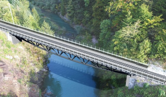 Source: T Ingénierie SA (CH) - Rendering of the finished Lanciau Bridge.