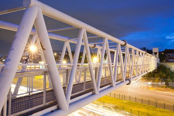 onshore construction bridge