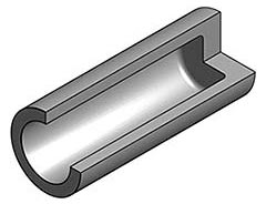 Tube with integral bottom